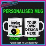 BOWLING CHAMPION LAWN BOWLS BIRTHDAY GIFT COFFEE MUG